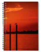 Bird On A Pole Sunrise Spiral Notebook