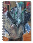 Birds In Flowers Spiral Notebook