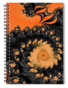 Black And Orange  Swirls Spiral Notebook