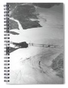 Black And White Aerial View Of Downtown San Francisco With Sun R Spiral Notebook