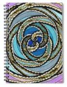 Black And White Fractal Design, Multicolored Background Spiral Notebook