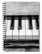 Black And White Piano Spiral Notebook