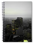 Black And White Tokyo Skyline At Night With Vibrant Selective Yellow Colors Spiral Notebook
