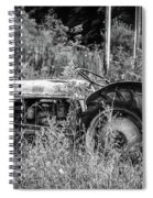 Black And White Tractor Spiral Notebook