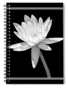 Black And White Water Lily Spiral Notebook