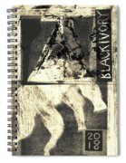 Black Ivory Horse On Hind Legs 1 Spiral Notebook