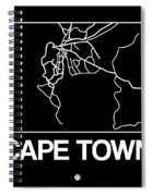 Black Map Of Cape Town Spiral Notebook