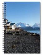 Black Sand Beach In Seward Alaska Spiral Notebook