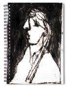 Black Side Portrait Spiral Notebook