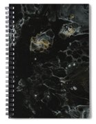 Black, Silver And Gold Abstract Spiral Notebook