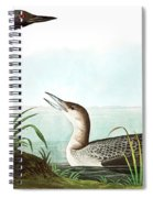 Black Throated Diver, Colymbus Arcticus By Audubon Spiral Notebook