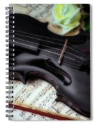 Black Violin On Sheet Music Spiral Notebook