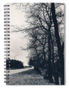 Bleak, Barren Trees Lining A Vacant Street Spiral Notebook