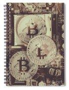 Blocks Of Bitcoin Spiral Notebook