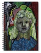 Blonde Girl Spiral Notebook