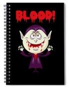 Blood Bloody Vampire Halloween Spiral Notebook