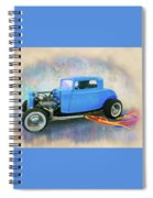 Blue 32 Ford Coupe Spiral Notebook
