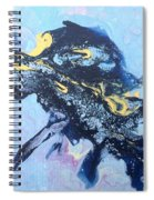Blue Abstract #3 Spiral Notebook