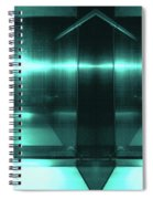 Blue Aluminum Surface. Metallic Fashion Geometric  Background Spiral Notebook