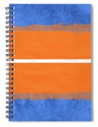 Blue And Orange Abstract Theme Iv Spiral Notebook