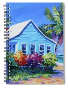 Blue Cottage On The Beach Spiral Notebook