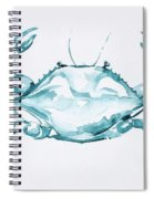 Blue Crab Turcoise Spiral Notebook