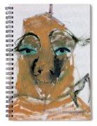 Blue Eyed Man Spiral Notebook