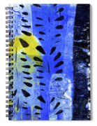 Blue Garden 1 Spiral Notebook