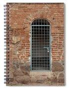 Blue Grid Doorway Spiral Notebook