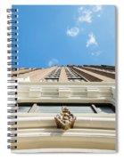 Blue Half Spiral Notebook