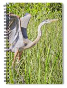 Blue Heron On The Rise Spiral Notebook