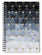 Blue Hexagons And Diamonds Spiral Notebook
