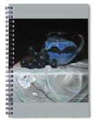 Blue Jar And Dark Purple Grapes Spiral Notebook