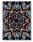 Blue Pattern Spiral Notebook