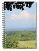 Blue Ridge Mountains And Vineyards Spiral Notebook