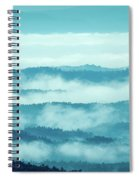 Blue Ridge Mountains Layers Upon Layers In Fog Spiral Notebook