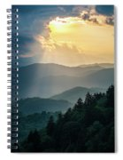 Blue Ridge Parkway Nc From Above Spiral Notebook