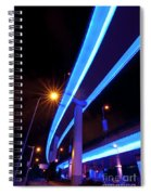Blue Road At Night Spiral Notebook