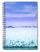 Blue Sky, White Field Spiral Notebook