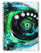Blue Spewed Turtle Fish Spiral Notebook