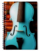 Blue Violin And Old Books Spiral Notebook
