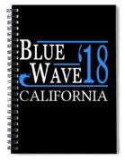 Blue Wave California Vote Democrat 2018 Spiral Notebook