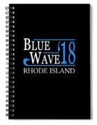 Blue Wave Rhode Island Vote Democrat 2018 Spiral Notebook