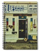 Blues Town Music Store Spiral Notebook