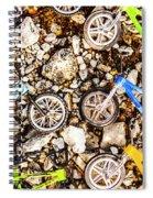 Bmx Pebble Race Spiral Notebook