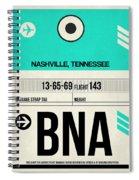 Bna Nashville Luggage Tag II Spiral Notebook