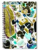 Boarding Background Spiral Notebook