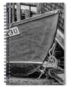 Boat At Fisherman's Cove Spiral Notebook