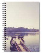 Boat Dock Tonto National Forest Spiral Notebook