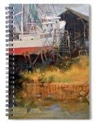 Boat In Drydock Spiral Notebook